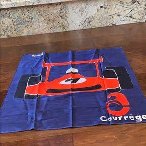 Very rare Courreges race car scarf